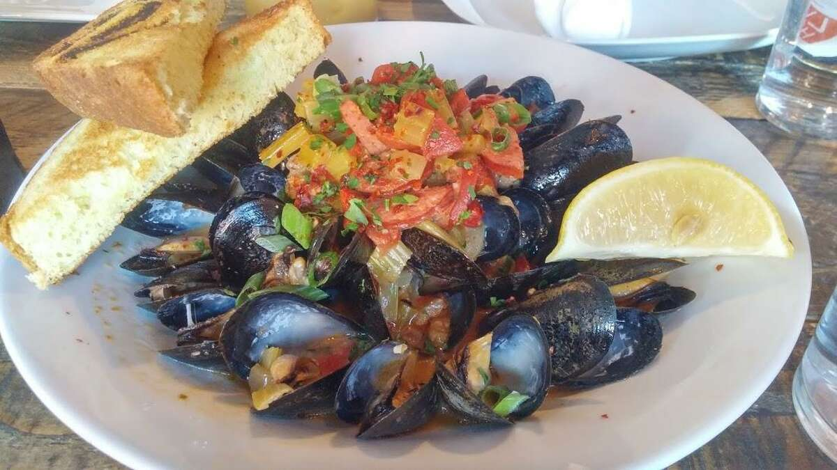Brunch mussels at Peaches Southern Pub.