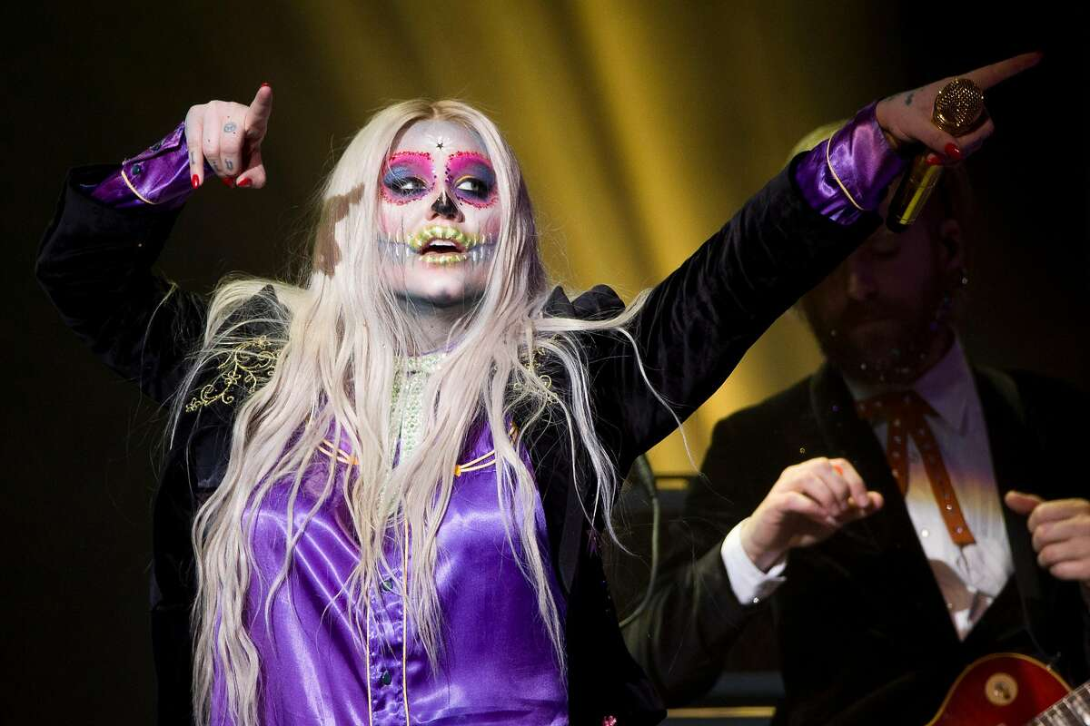 Kesha performs at the Masonic on Tuesday, Oct. 31, 2017, in San Francisco, Calif.