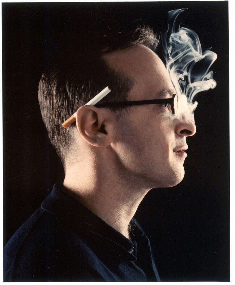 David Sedaris (author cigarette smoking) will appear at Brazos Bookstore this week. / HANDOUT