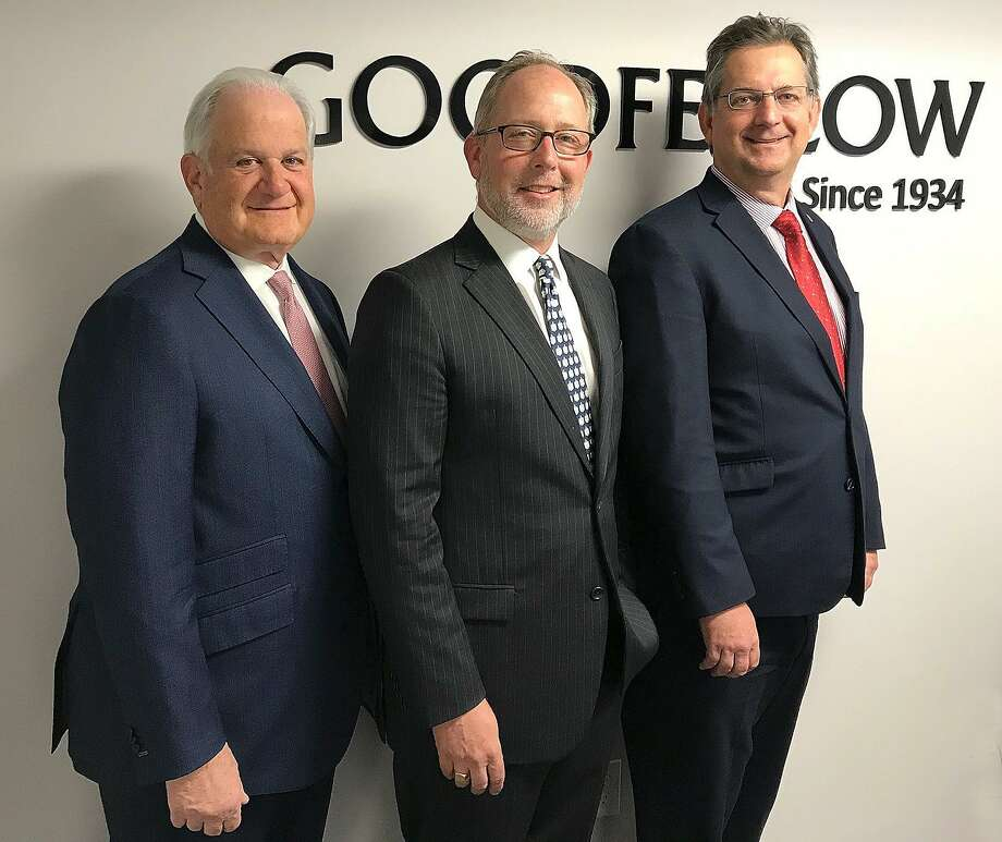 "Goodfellow Commercial Real Estate of Danbury, Conn., has been acquired by Coldwell Banker Commercial, a division of NRT New England, it was announced Wednesday, Nov. 1, 2017. Pictured are (left to right): Joseph Valvano, president of Coldwell Banker Connecticut/Westchester, Todd Payne, former owner of Goodfellow and now managing director of NRT's Connecticut office, and Karl ""Dee"" Maret, national co-director of Coldwell Banker Commercial NRT. Photo: Chris Bosak / Hearst Connecticut Media / The News-Times"