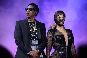 IMAGE DISTRIBUTED FOR PARKWOOD ENTERTAINMENT - JAY Z and Beyonce perform on their On The Run Tour at Gillette Stadium on Tuesday, July 1, 2014 in Foxborough, Mass. (Photo by Mason Poole/Invision for Parkwood Entertainment/AP Images)
