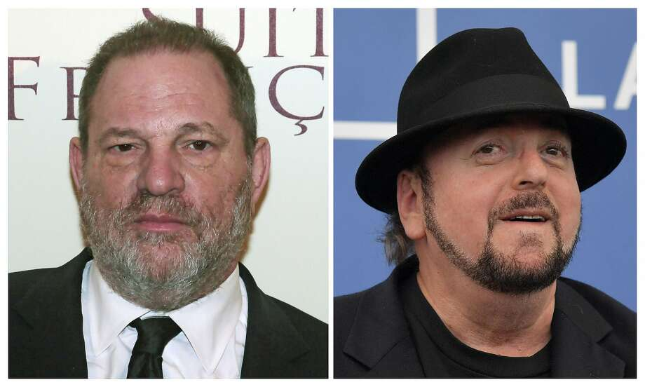 """(FILES): These two file photos show producer Harvey Weinstein (L) before the world preview screening of """"French suite"""" (Suite francaise) on March 10, 2015 in Paris, France; and director James Toback (R) attending the photocall for the movie """"The Private Life of a Modern Woman"""" during the 74th Venice Film Festival on September 3, 2017 at Venice Lido in Italy.   The Beverly Hills Police Department said Tuesday, october 31, 2017 it is investigating """"multiple complaints"""" of assaults by disgraced producer Harvey Weinstein and director James Toback, who face numerous allegations of unwanted sexual encounters. Accounts of abuse by Weinstein that were published last month in The New York Times and The New Yorker encouraged others to speak out, unleashing a cascade of allegations of sexual harassment and assault against leading figures in Hollywood and elsewhere. The police department did not provide details about the complaints in a statement titled """"Recently Reported Assaults,"""" and said that no additional information would be released at this time.  / AFP PHOTO / dskDSK/AFP/Getty Images Photo: DSK, AFP/Getty Images"""
