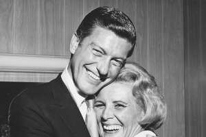 """Rose Marie with Dick Van Dyke, with whom she starred in """"The Dick Van Dyke Show."""""""