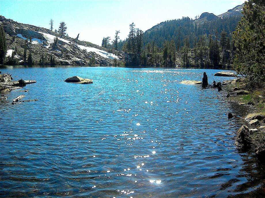 From the shore of the pay-off lake in the Granite Chief Wilderness, which abuts an area proposed for a 13,000-foot gondola to connect Squaw Valley and Alpine Meadows ski areas at north Tahoe Photo: Tom Stienstra, Tom Stienstra / The Chronicle