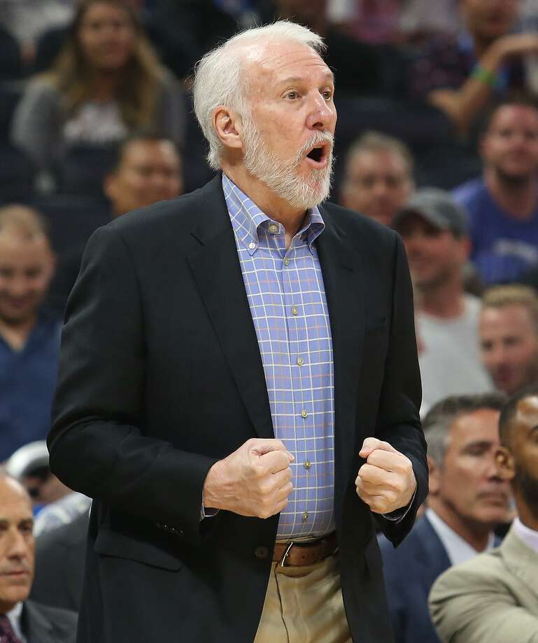 Spurs head coach Gregg Popovich says he has seen several teams in the NBA emulating the Warriors' style of play. Photo: Stephen M. Dowell /TNS / Orlando Sentinel