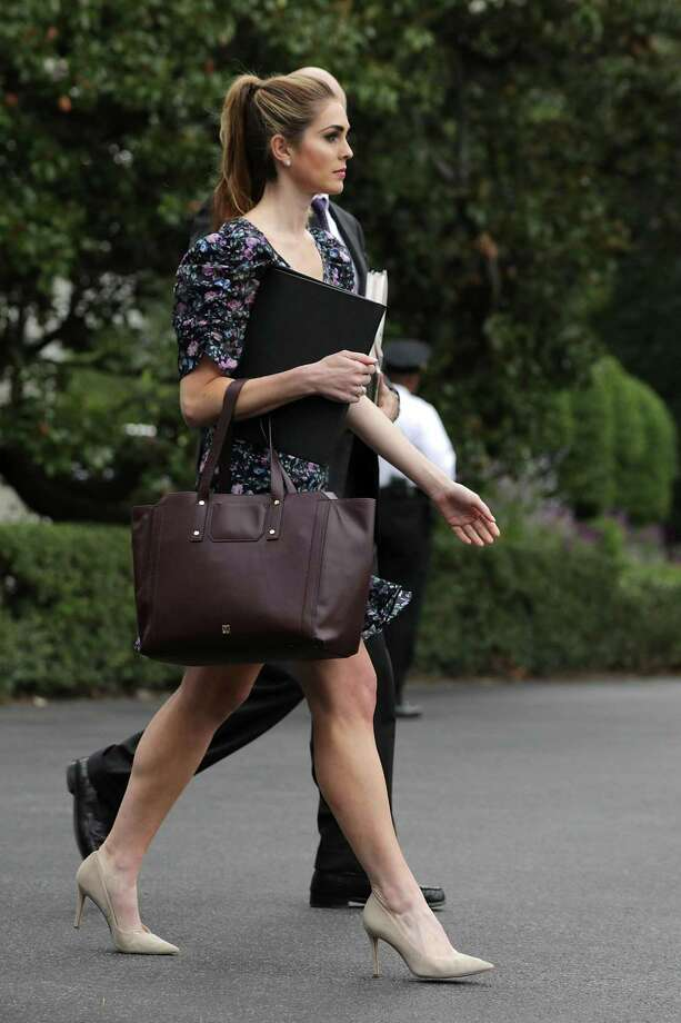 White House Strategic Communications Director Hope Hicks leaves the White House October 11, 2017 in Washington, DC. Photo: Chip Somodevilla / Getty Images / 2017 Getty Images