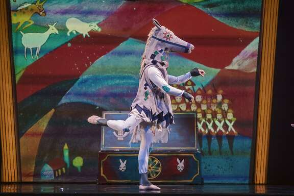 Now in its 31st year, ODC�s beloved production of Margery Williams� �Velveteen Rabbit� combines storytelling, modern dance and vibrant sets and costumes. Photo: Andrew Weeks.