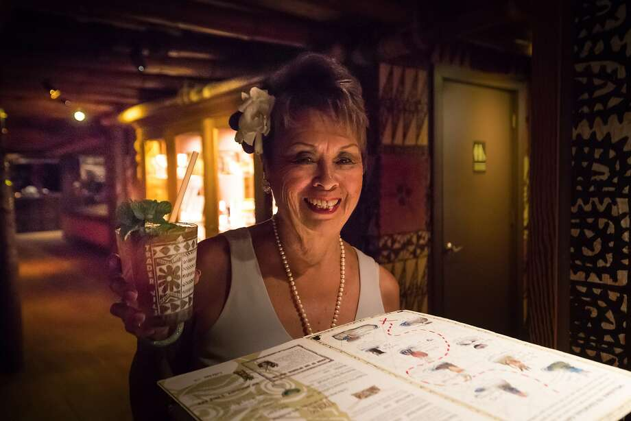 Claudette Lum, a hostess for Trader Vic's since 1960. Photo: Paul Kuroda, Special To The Chronicle