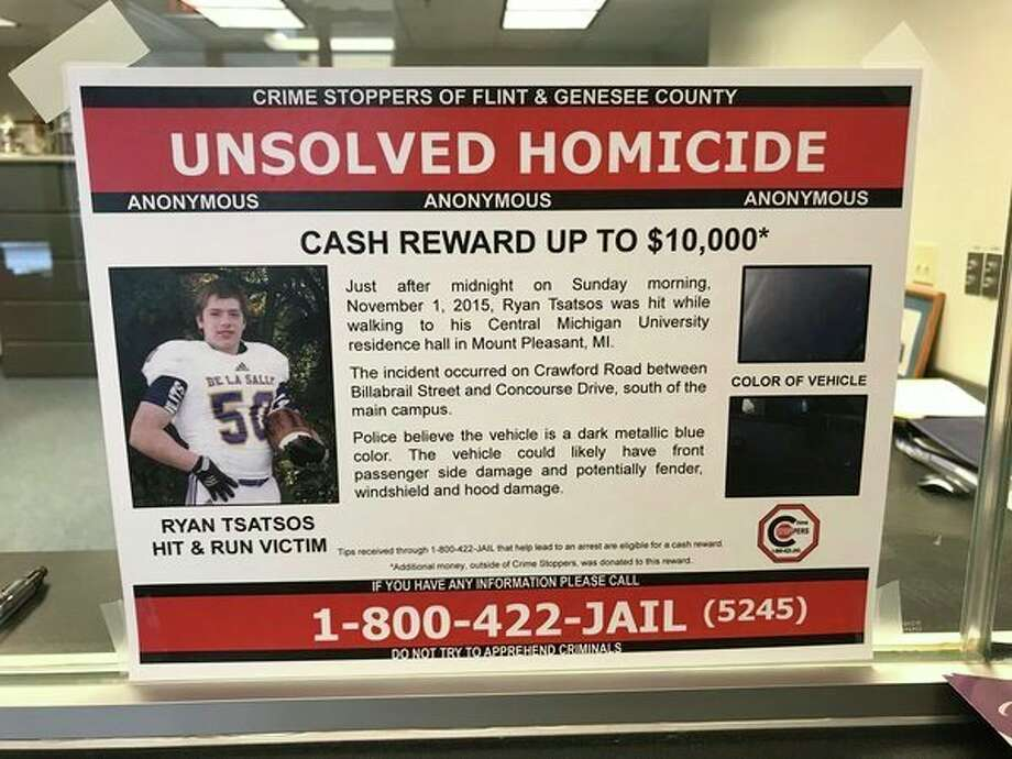 It has been two years since Ryan Tsatsos died in a fatal hit-and-run accident. Crime Stoppers is awarding up to $10,000 for tips leading to an arrest.(Kate Carlson/kcarlson@mdn.net)