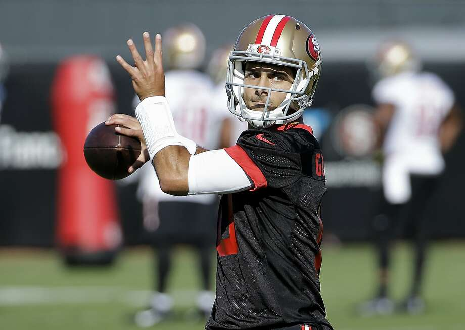 uk availability 1ffdd 0496b 49ers' Kyle Shanahan in no rush to play Jimmy Garoppolo - SFGate