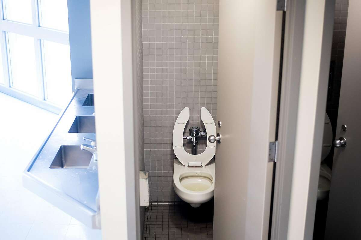 A communal toilet is pictured at the West County Detention Facility in Richmond, Calif., on Tuesday, Oct. 31, 2017.