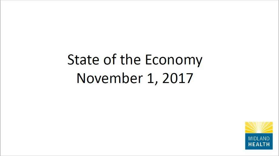 State of the Economy, Midland Health presentation. Photo: Midland Health