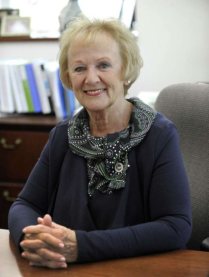 Newtown First Selectman Pat Llodra, who  will be retiring when her term ends in November, talks about her time in office, Friday, May 26, 2017. Photo: Carol Kaliff / Hearst Connecticut Media / The News-Times
