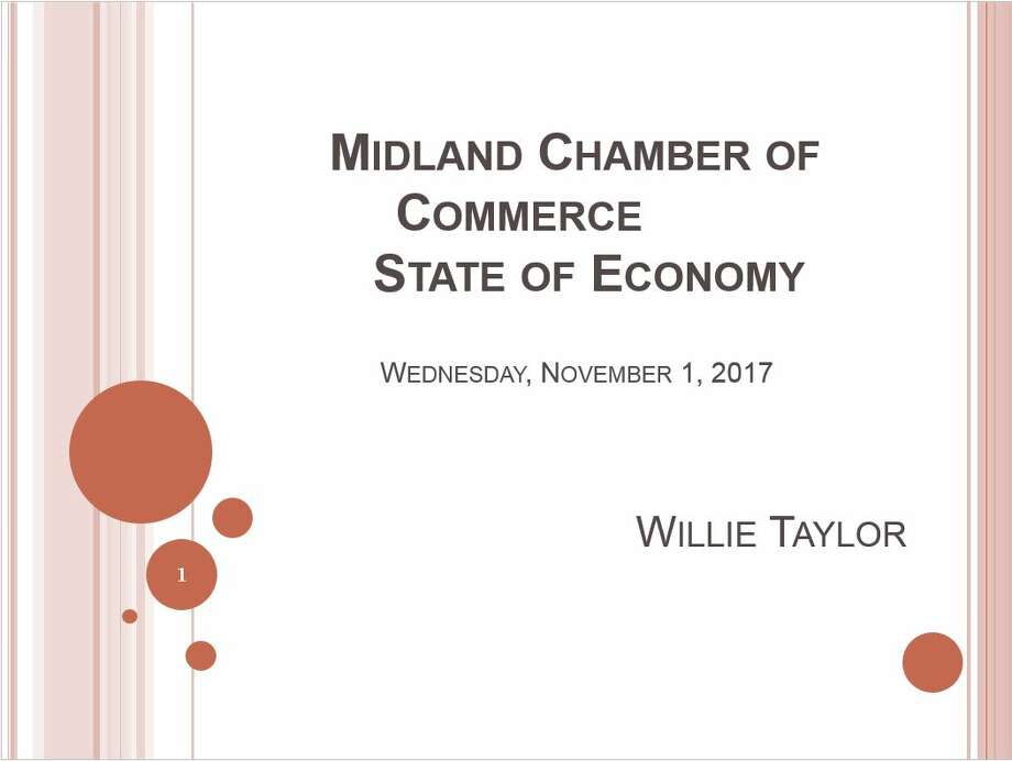 Midland Chamber of Commerce State of Economy presentation Photo: Midland Chamber Of Commerce
