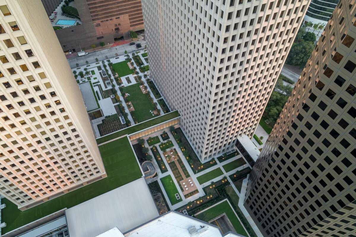 Brookfield Property Partners recently opened The Acre, a new outdoor lawn between One Allen Center and Two Allen Center, as part of a $48.5 million renovation program.