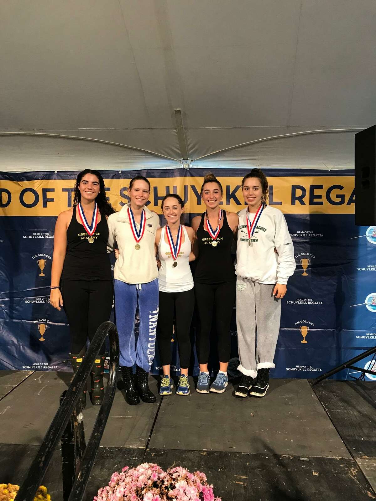 Greenwich Academy placed third in the women's high school fours varsity race at the Head of the Schuylkill Regatta in Philadelphia, Pa., last weekend.