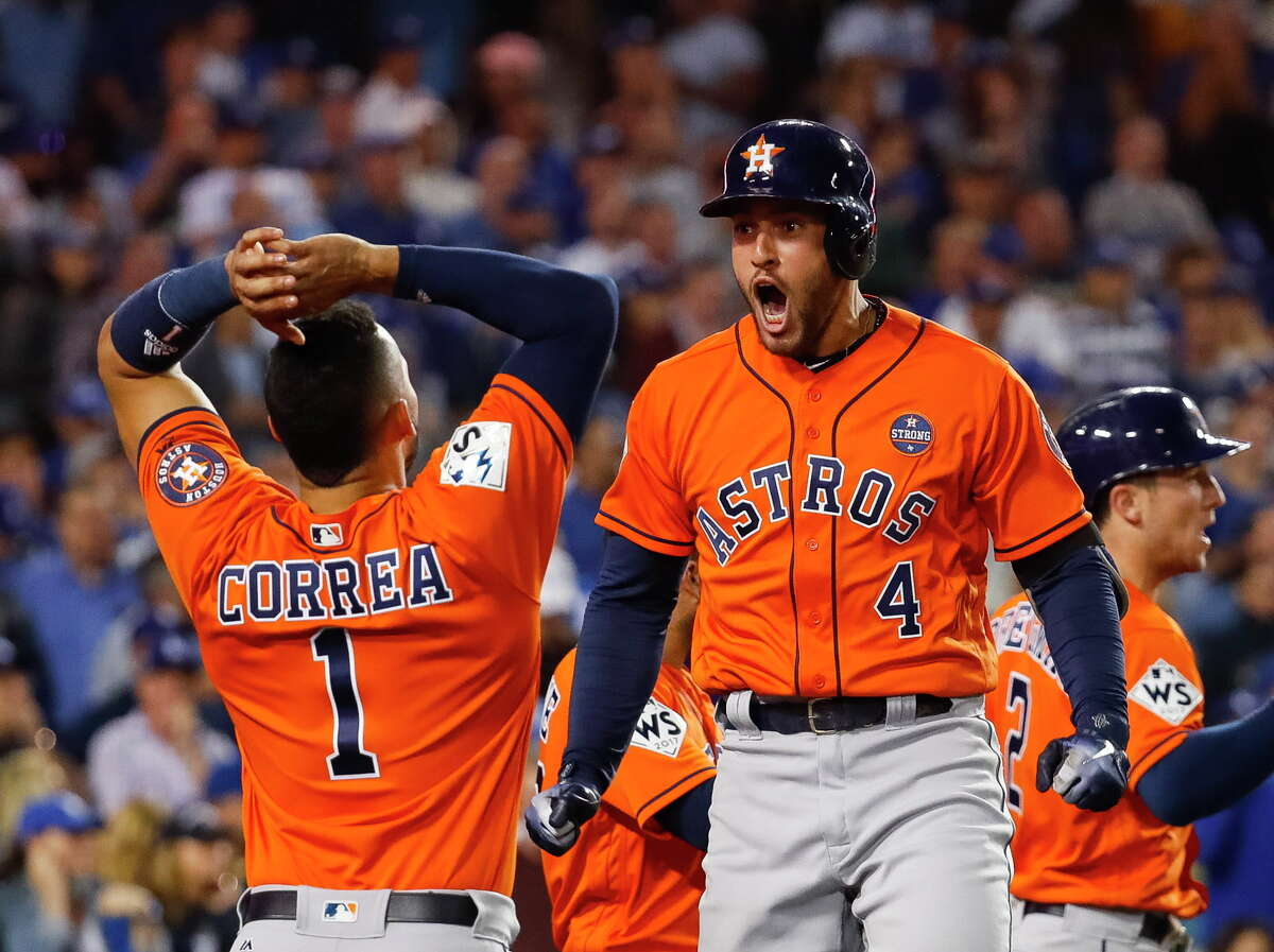 George Springer's apex of an illustrious Astros tenure was being named MVP of the 2017 World Series.