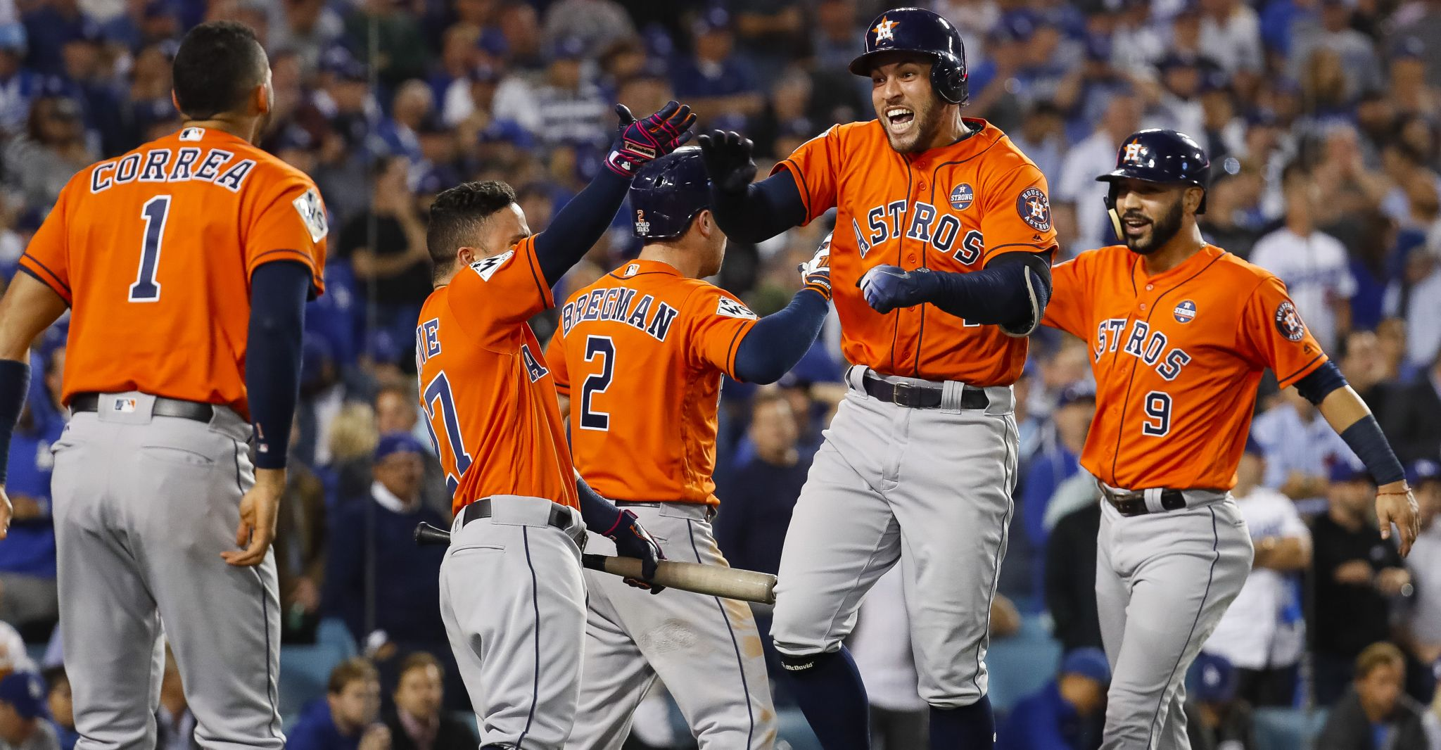 hollywood  astros beat dodgers  game   win world series houston chronicle