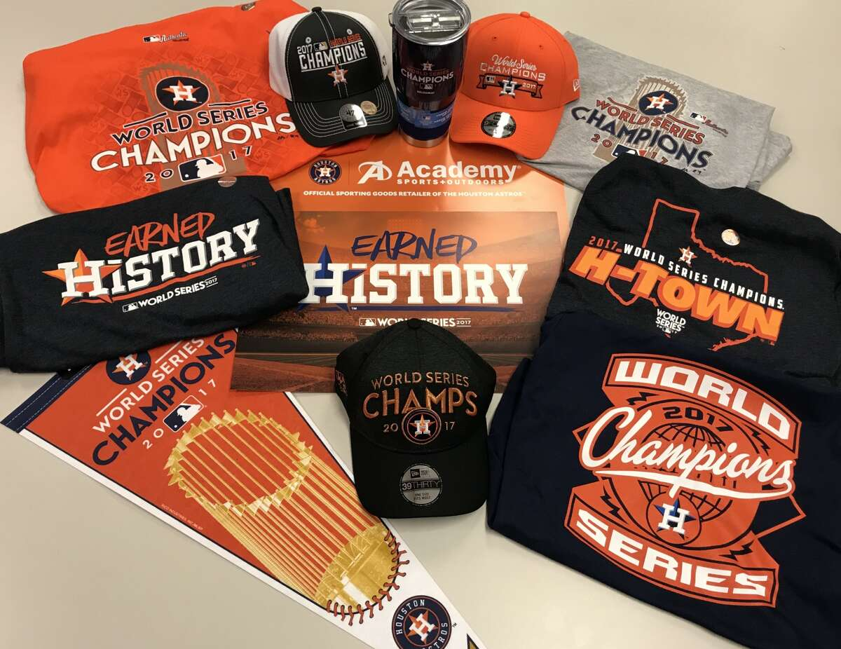 Academy Sports and Outdoors opened late so fans could get their hands on Houston Astros Championship gear. Click the gallery to see more gear available online.