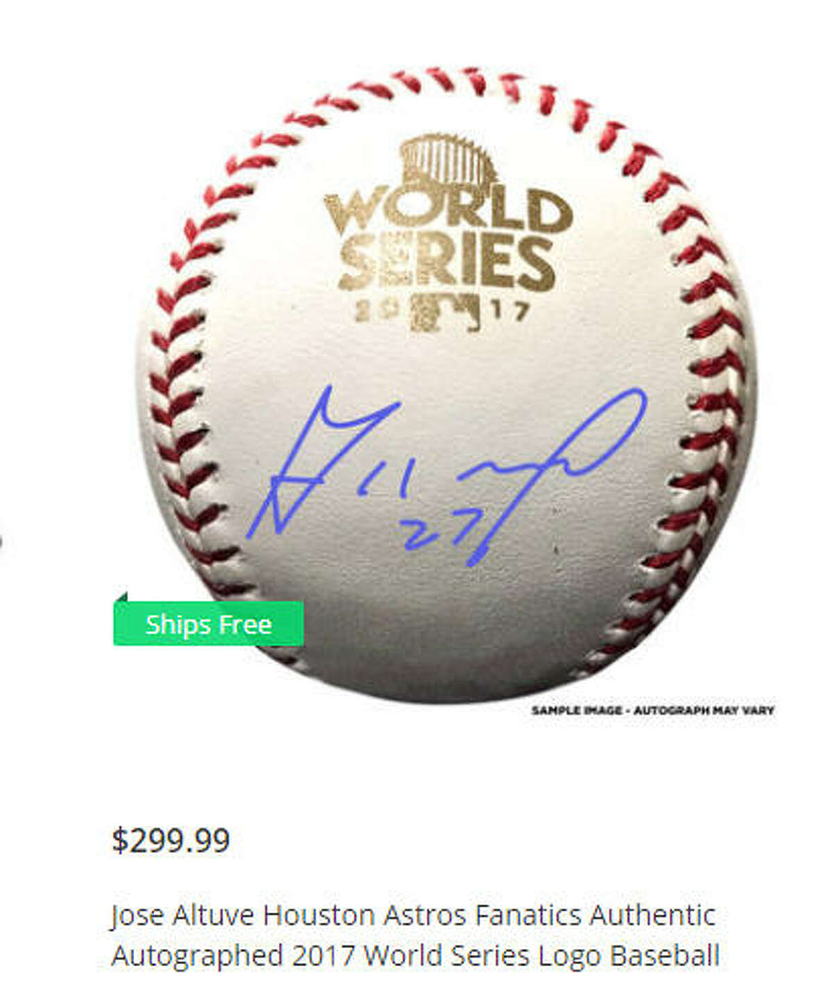 Get your very own Jose Altuve autographed ball on theChron Fanatics page.