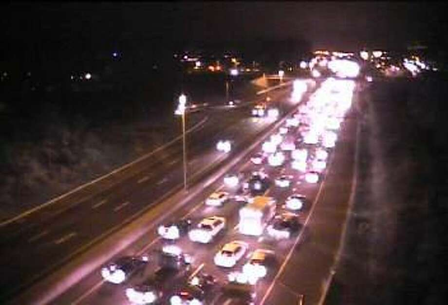 Traffic came to a standstill Thursday morning around 6:30 a.m. after an accident that involved multiple vehicles and a tractor trailer. Norwalk, Conn. Nov. 2, 2017 Photo: Contributed Photo / DOT / Contributed Photo / Connecticut Post Contributed