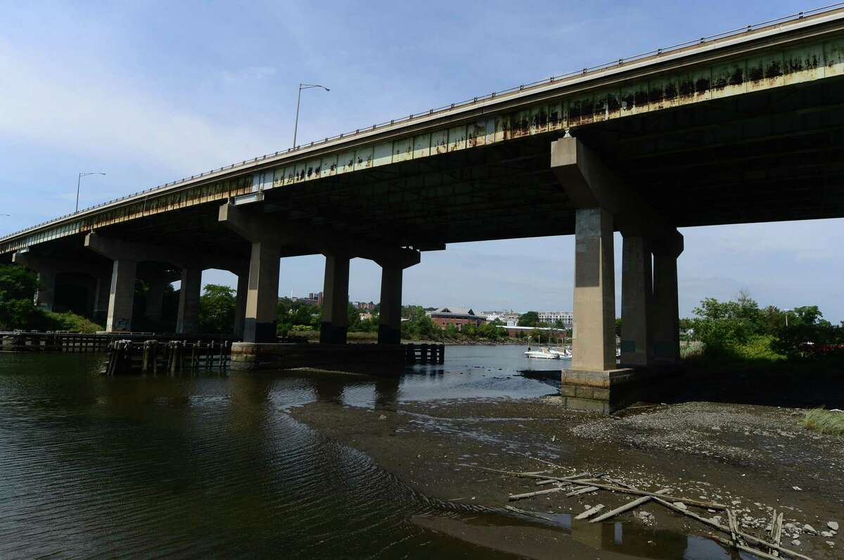 The Yankee Doodle Bridge spanning the Norwalk Rivwer in Norwalk, Conn. Thursday, August 25, 2016. The Norwalk Harbor Management Commission plans to step up effort to get The Connecticut Department of Transportation to incorporate pollutant-trapping runoff measure into an upcoming overhaul of The Yankee Doodle Bridge on Interstate 95.