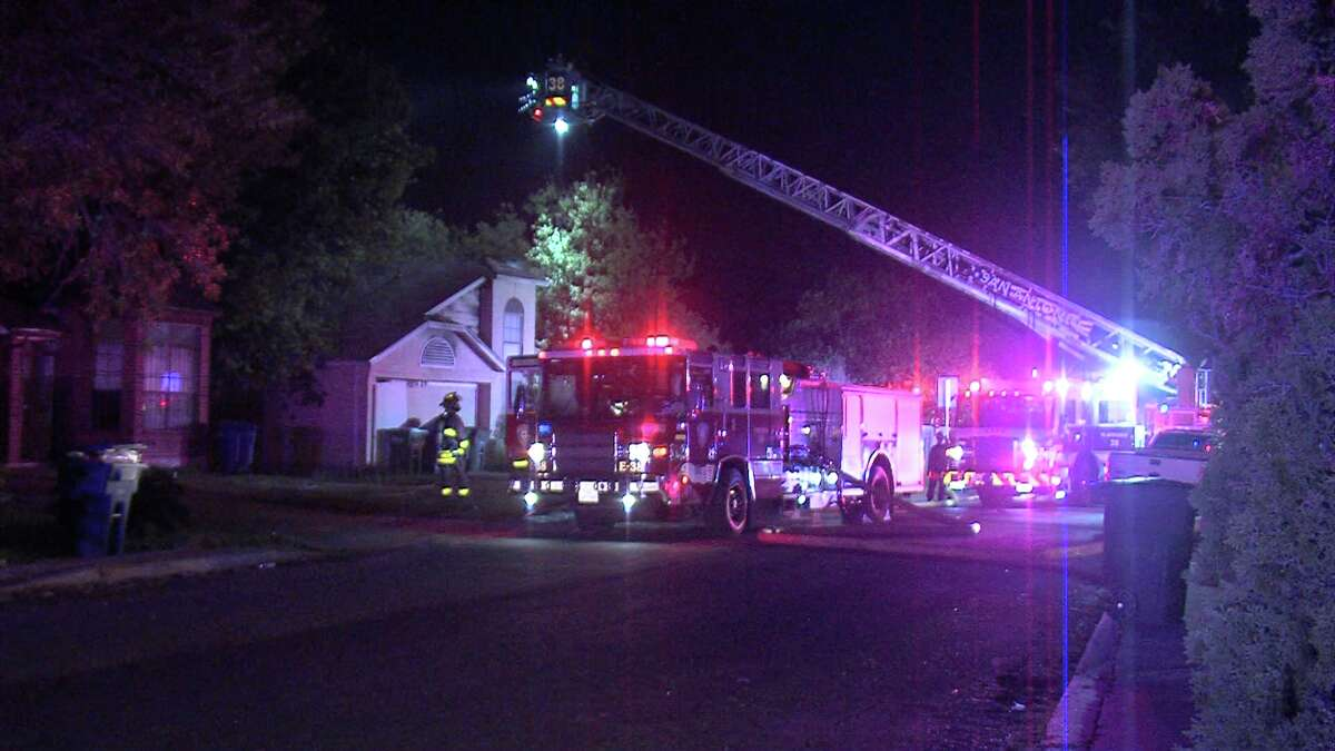 The blaze was first reported around 12:20 a.m. at a home in the 5900 block of Catalina Sunrise. When firefighters arrived, the back of the house was engulfed in flames.