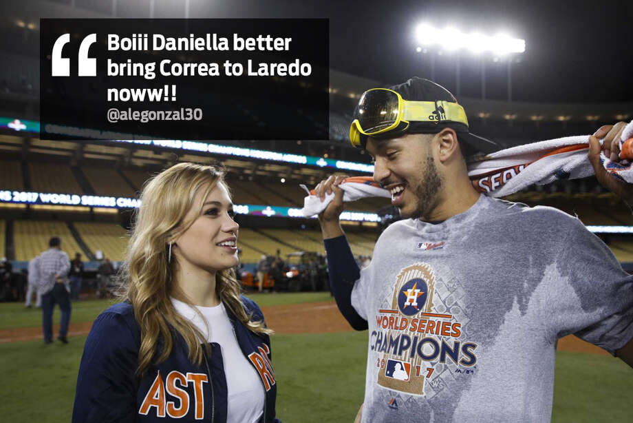 "@alegonzal30: ""Boiii Daniella better bring Correa to Laredo now!!"" Photo: Twitter"