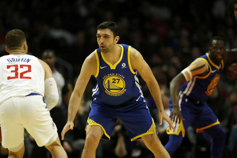 Golden State Warriors center Zaza Pachulia defends during the second half of an NBA basketball game against the Los Angeles Clippers, Monday, Oct. 30, 2017, in Los Angeles. (AP Photo/Ryan Kang) Photo: Ryan Kang, Associated Press