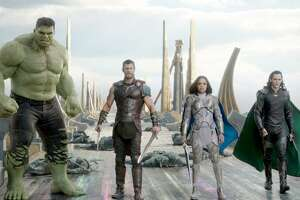 """Thor: Ragnarok"" showcases a fantastic foursome with (left to right) the Hulk (Mark Ruffalo), Thor (Chris Hemsworth), Valkyrie (Tessa Thompson) and Loki (Tom Hiddleston). But the film borrows story elements from two of the biggest names in comics to ever write and illustrate its two biggest heroes: Hulk and Thor. Those creative titans would be ""The Incredible Hulk"" scribe Greg Pak, and ""The Mighty Thor"" writer and artist Walt Simonson."
