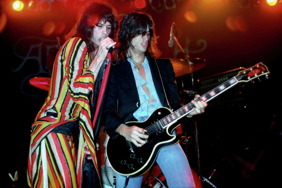 Steven Tyler and Joe Perry of Aerosmith in 1975, the year the band released