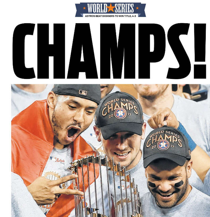 Here's how the Houston Chronicle covered the Houston Astros' World Series win. Photo: Houston Chronicle