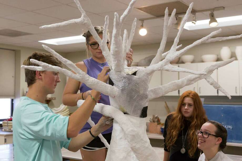 The inaugural Cultural and Heritage Festival is scheduled from noon to 4 p.m., Sunday, Nov. 5. Students in The Woodlands High School arts class spent weeks sculpting the AncesTree, the main attraction at the festival. Photo: Submitted / © Shaun Griffiths