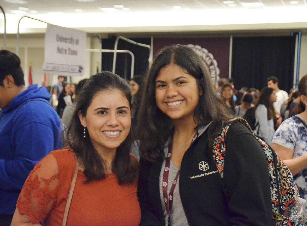 High school students attended a College Night Wednesday night, hosted by TAMIU, where various higher education institutions gave out information regarding admissions.