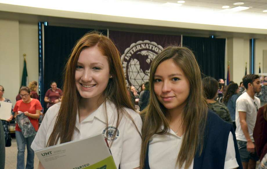 High school students attended a College Night Wednesday night, hosted by TAMIU, where various higher education institutions gave out information regarding admissions. Photo: Francisco Vera/Laredo Morning Times
