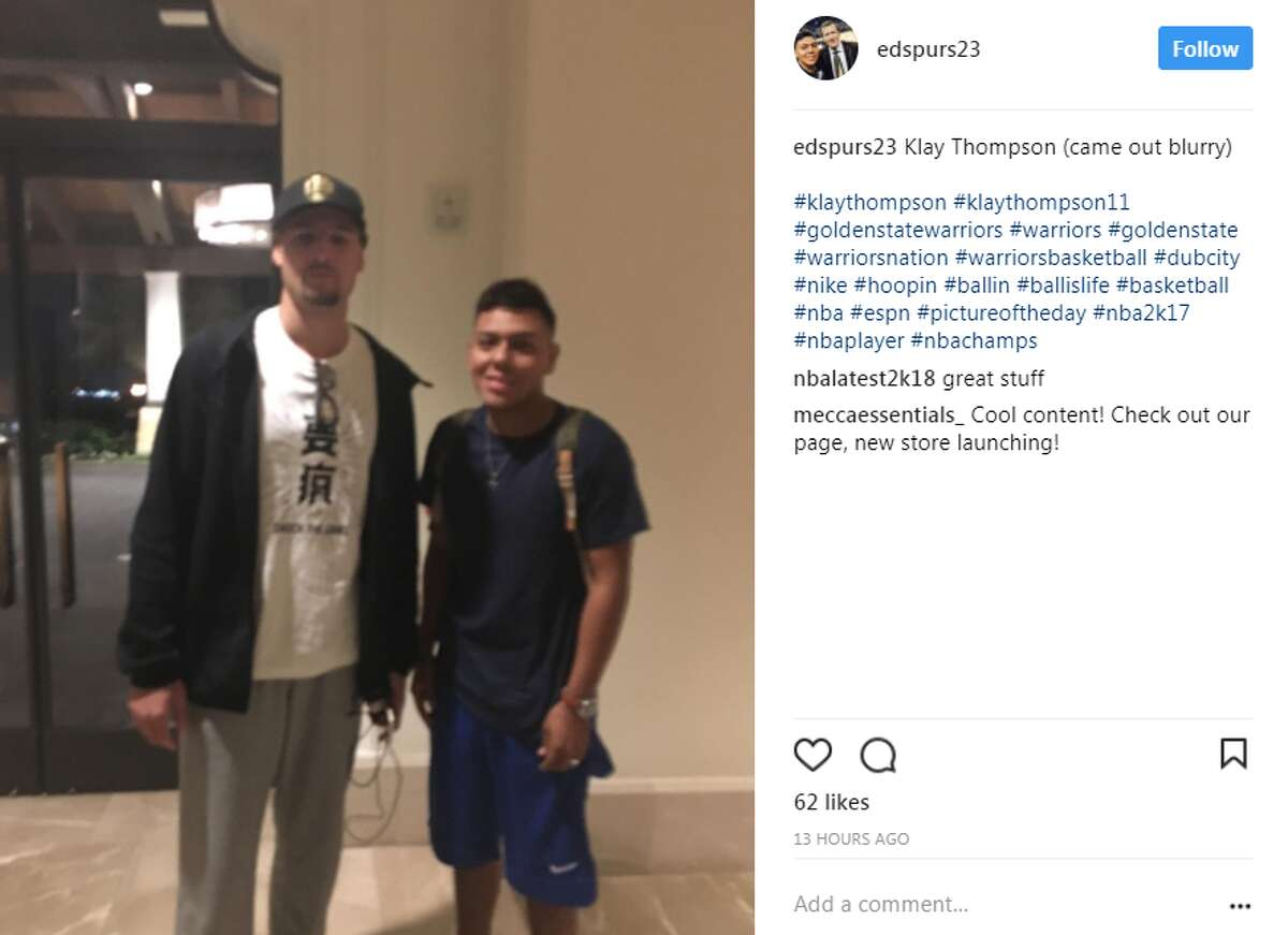 @edspurs23 with Golden State Warrior Klay Thompson.