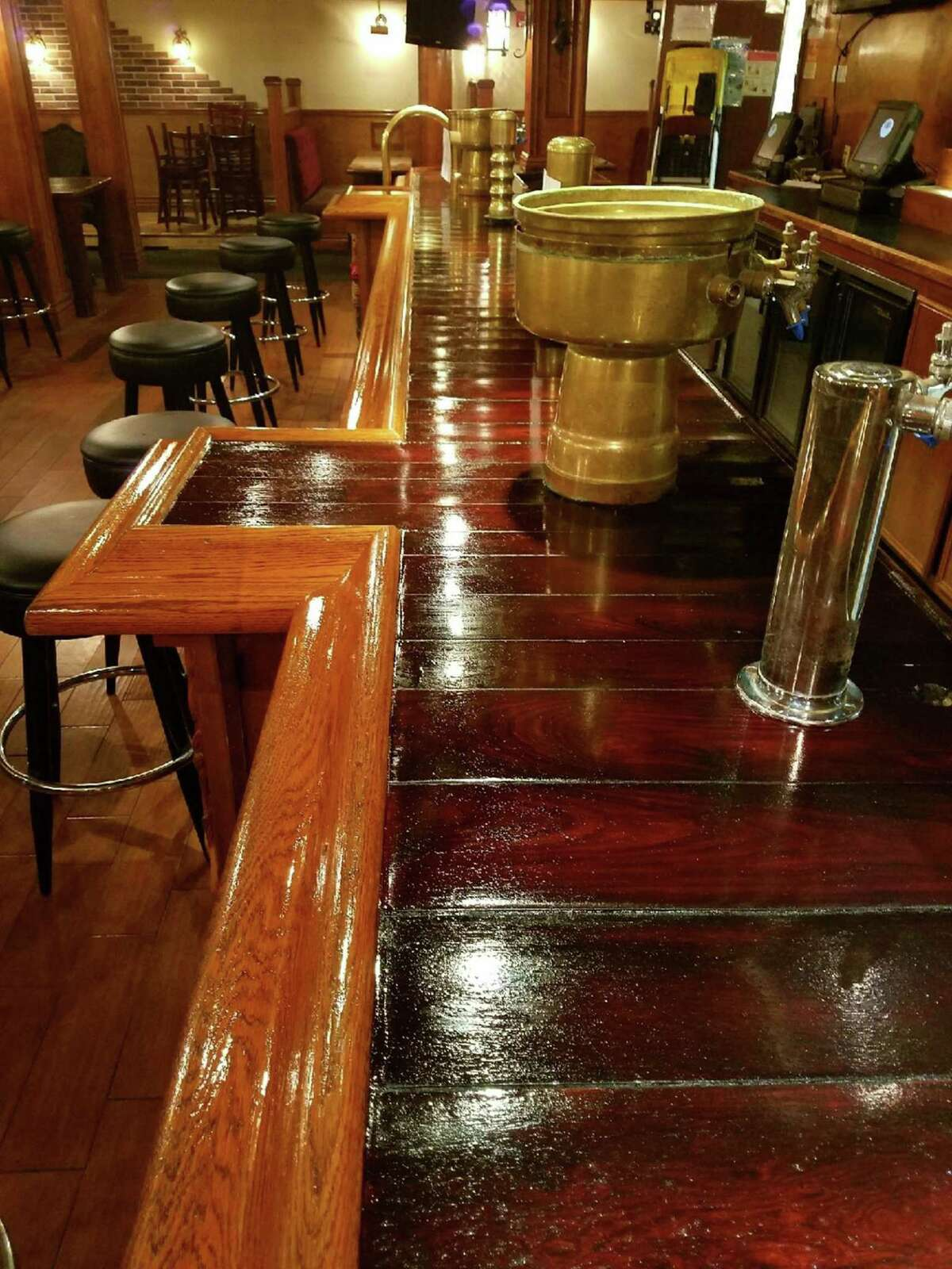 The bar has been refinished at The Winchester.