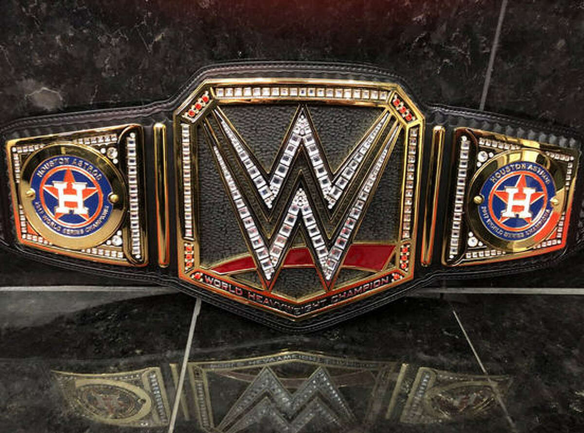 When the Houston Astros hit the parade route on Friday they will have a very special belt in honor of winning the World Series in their hands from World Wrestling Entertainment. Relive the team's Game 7 World Series finale in the following photos...
