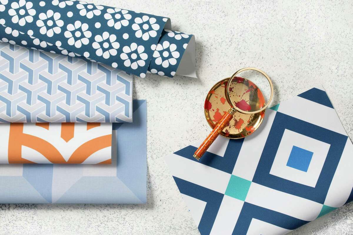 Jonathan Adler has a new roller shade collection at The Shade Store.