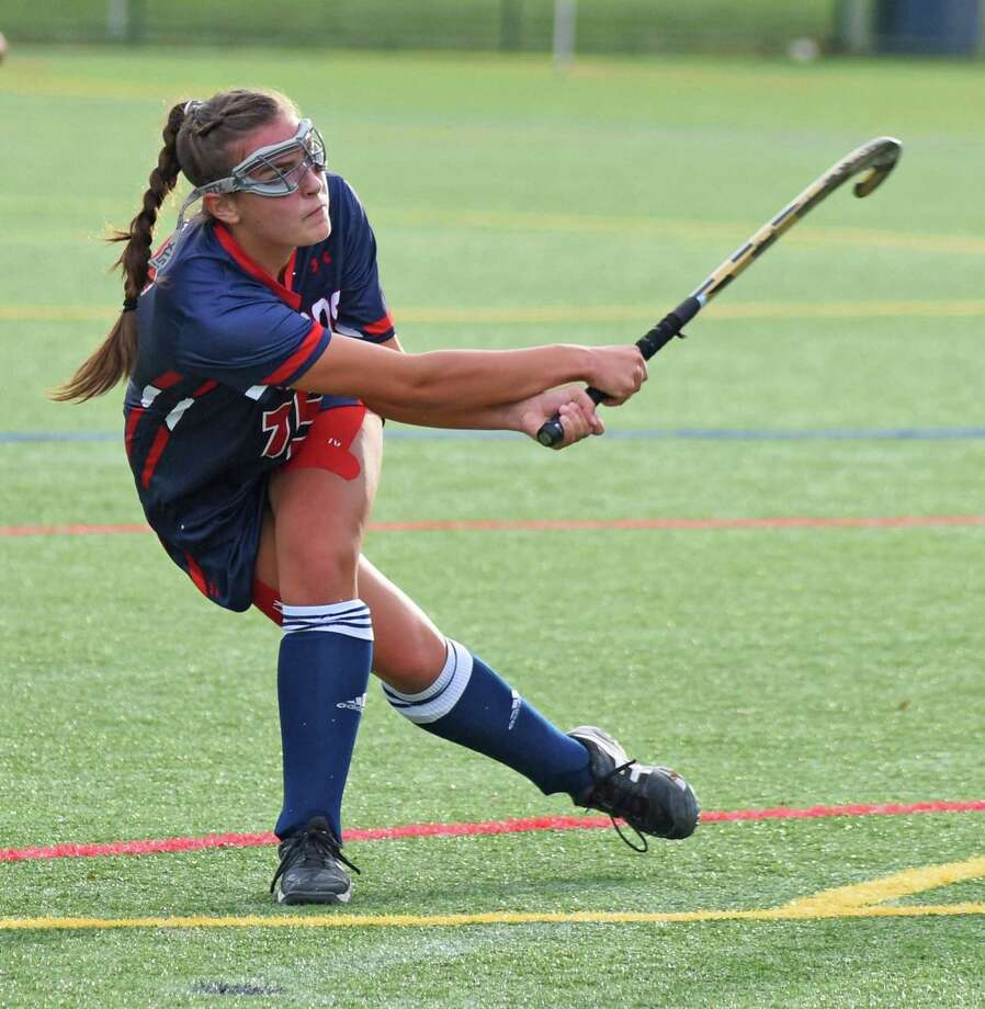 Lucy Holzinger, a resident of Westport, takes part in a game last week against Holy Child. Photo: Contributed Photo/Greens Farms Academy