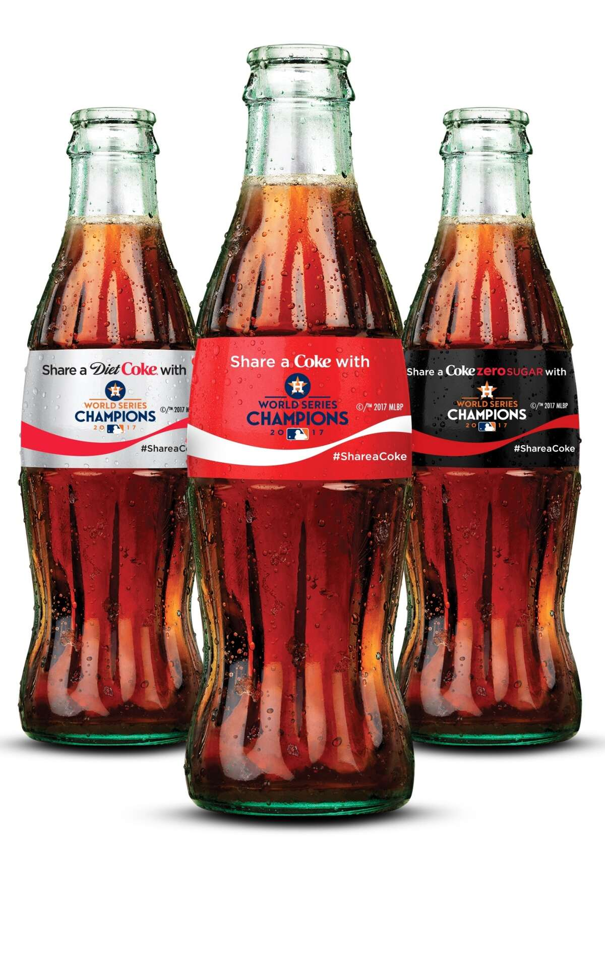 Baseball fans can order commemorative bottles of Coca-Cola products celebrating the Astros World Series championship.
