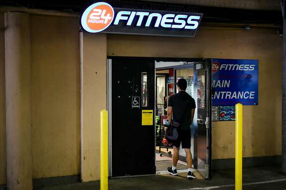 A person enters a 24 Hour Fitness location in San Francisco, CA, on Thursday November 2, 2017.