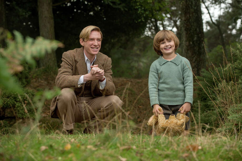 "L-r) Domhnall Gleeson and Will Tilston in ""Goodbye Christopher Robin."" MUST CREDIT: David Appleby, Fox Searchlight Pictures / © 2017 Fox Searchlight Pictures"