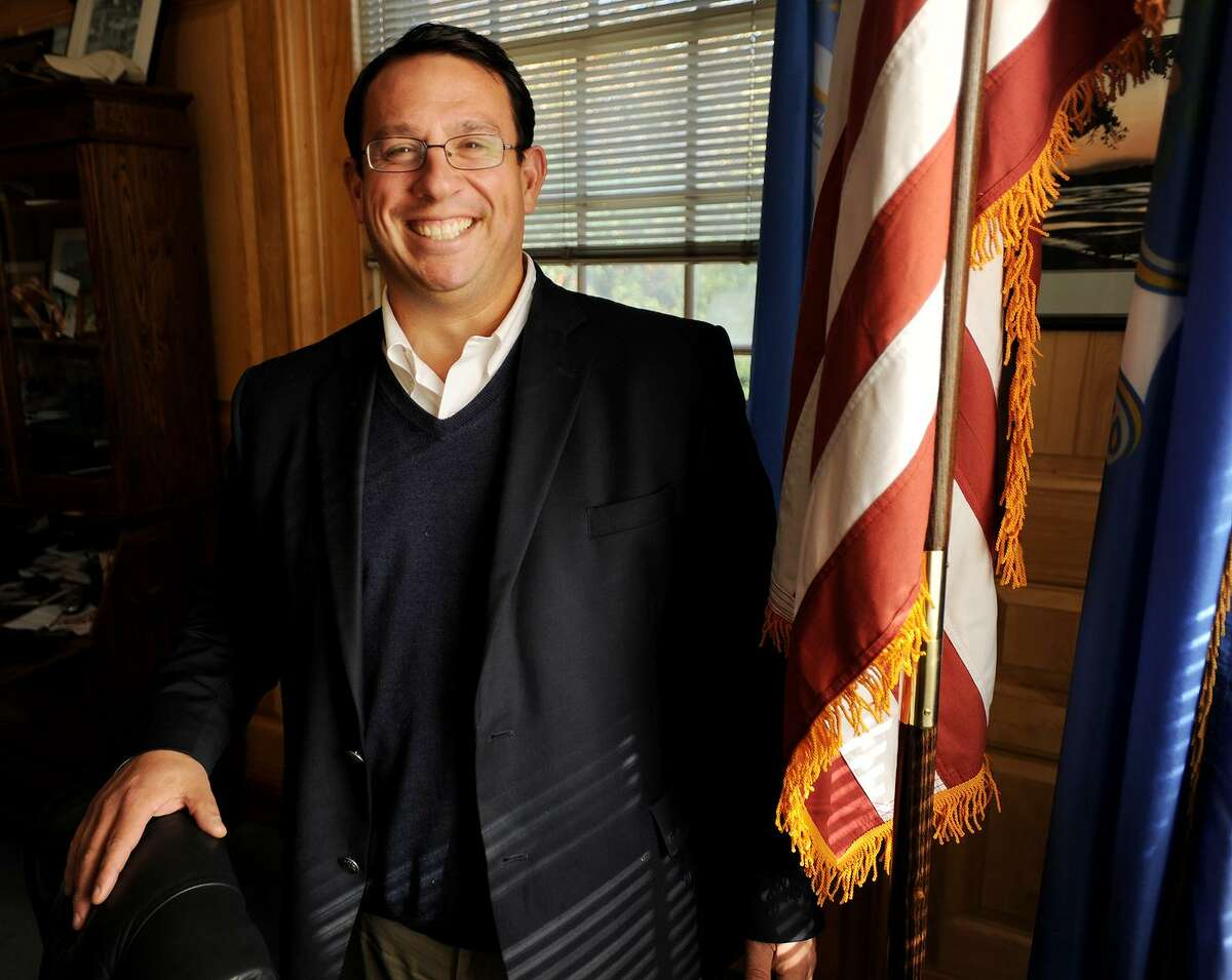 Milford Democratic Mayor Ben Blake is running unopposed for a fourth term in his office at City Hall in Milford, Conn. on Tuesday, October 31, 2017.