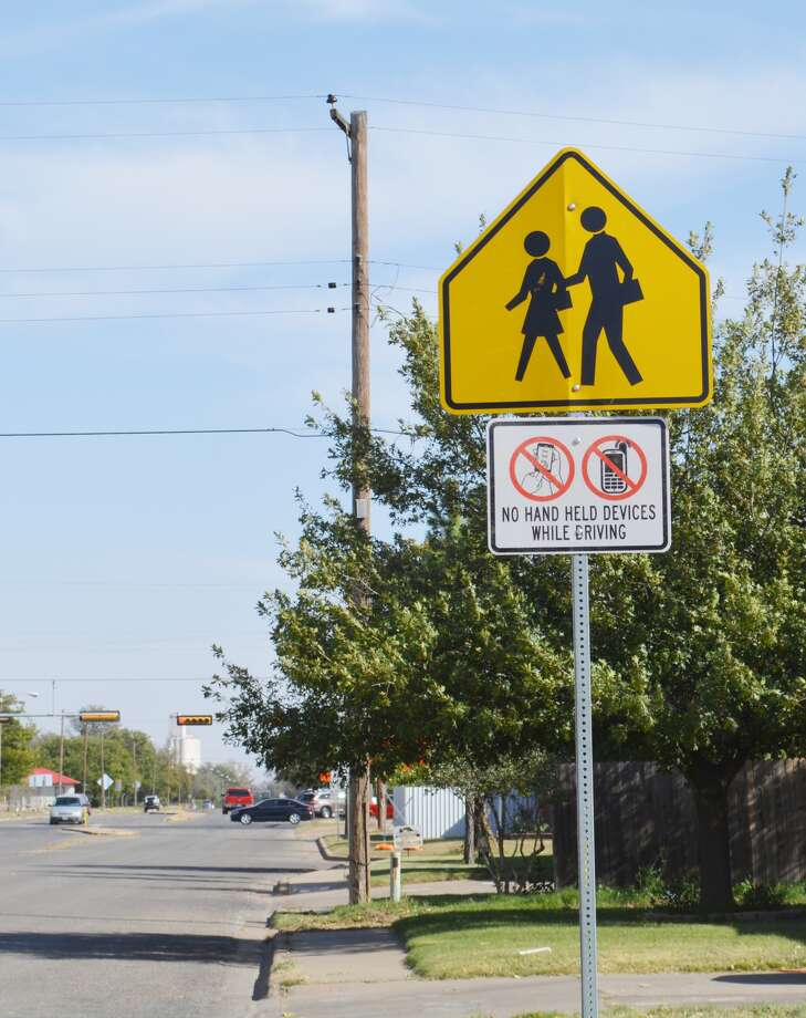 Signs like these have popped up around school zones throughout Plainview during the last week. Photo: William Carroll, Plainview Herald