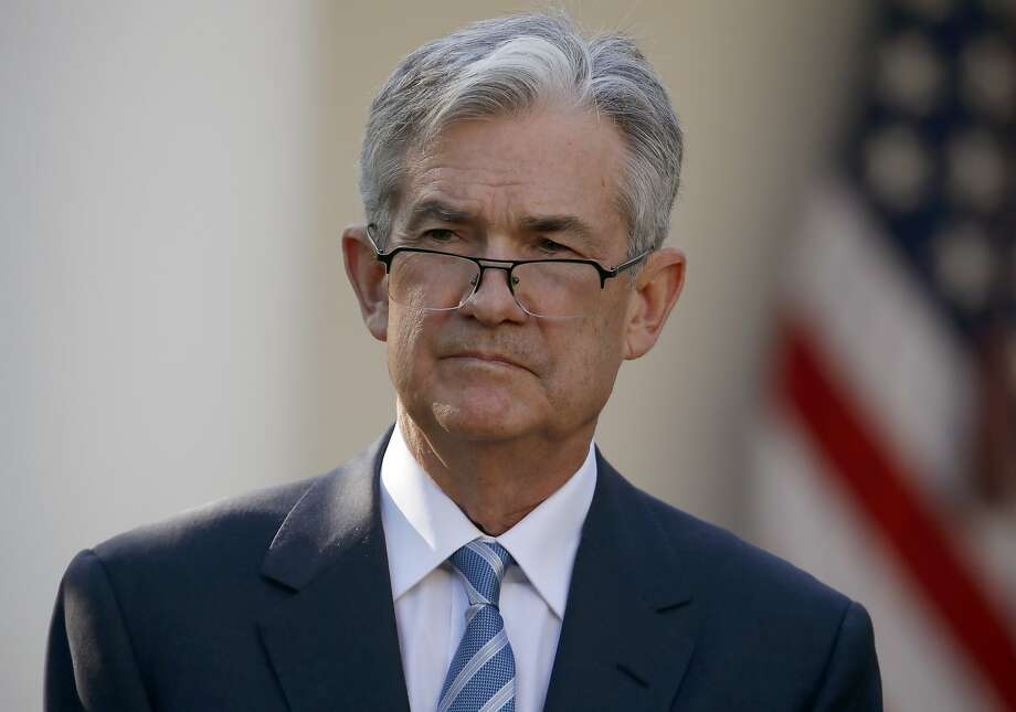 Federal Reserve board member Jerome Powell stands as President Donald Trump announces him as his nominee for the next chair of the Federal Reserve in the Rose Garden of the White House in Washington, Thursday, Nov. 2, 2017. (AP Photo/Alex Brandon) Photo: Alex Brandon, Associated Press