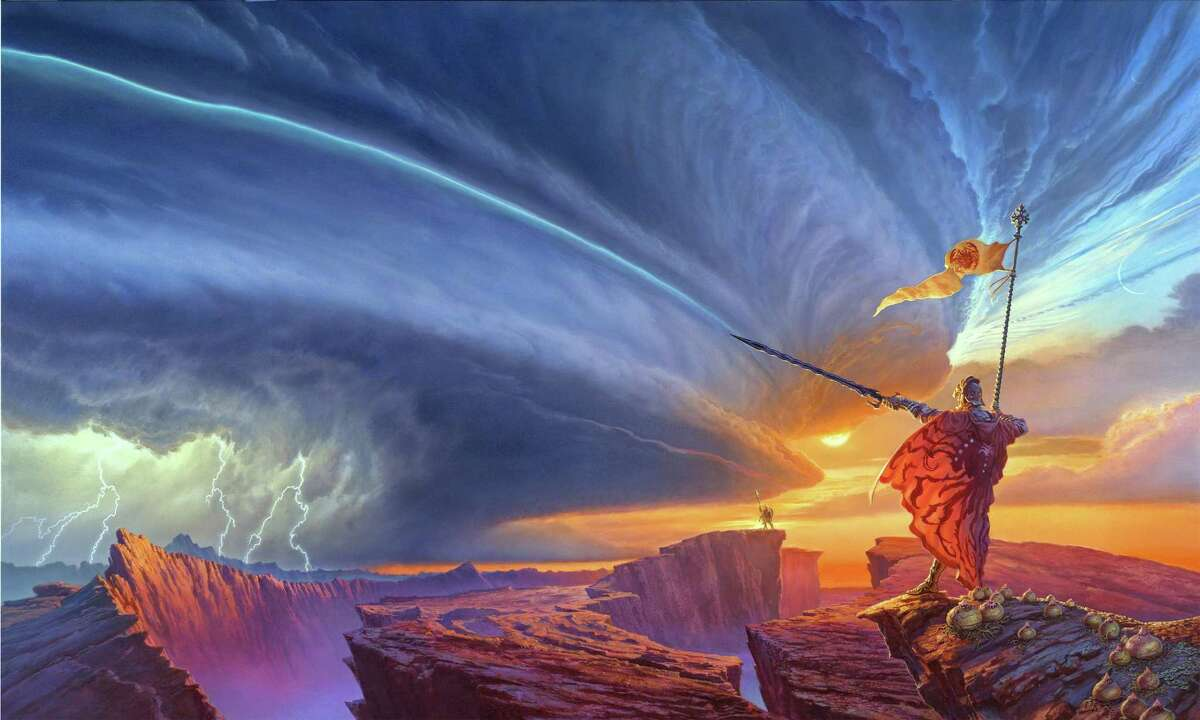 Danbury artist Michael Whelan teamed with author Brandon Sanderson to create the cover for the 2010 book,