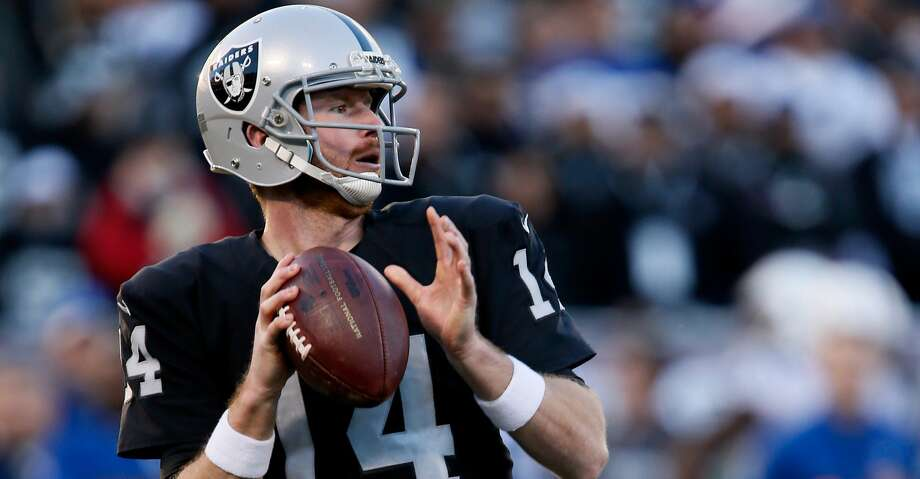 The Texans plan to sign former Oakland Raiders quarterback Matt McGloin. Photo: Brian Bahr/Getty Images