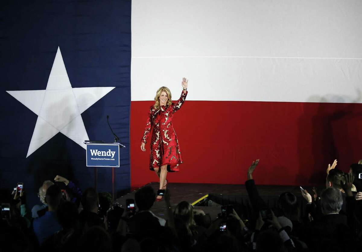 Texas Democratic candidate Wendy Davis's trouncing in the 2014 gubernatorial election offers scant evidence that the state is on the verge of turning from red to purple politically. Here, she is giving her concession speech.