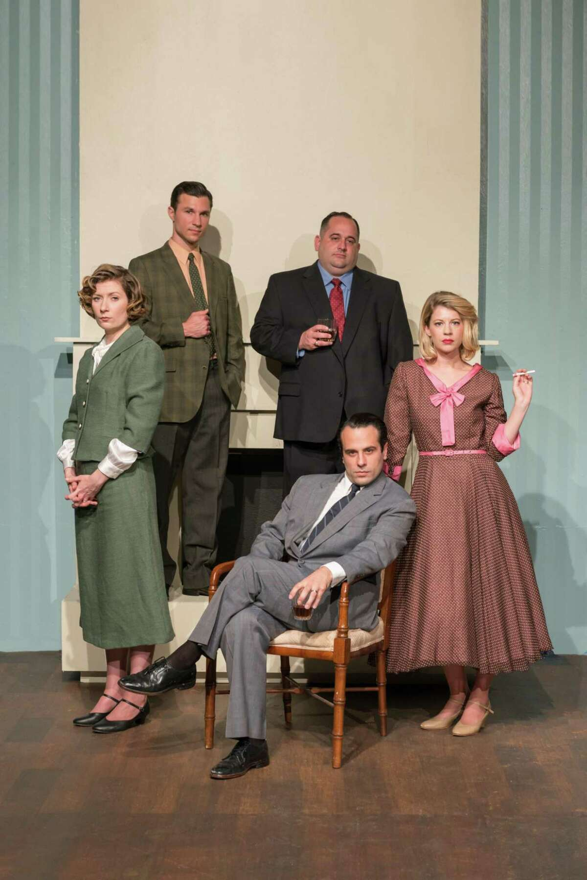 """Classic Theatre's production of """"A Doll's House"""" stars Christina Casella (clockwise from left), Zach Lewis, John Boyd, Kacey Roye and Nick Lawson."""